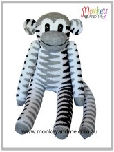 Grey Ziggy the Sock Monkey