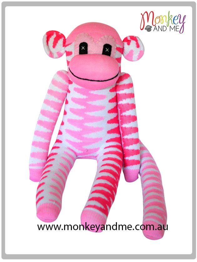 Pink Ziggy the Sock Monkey